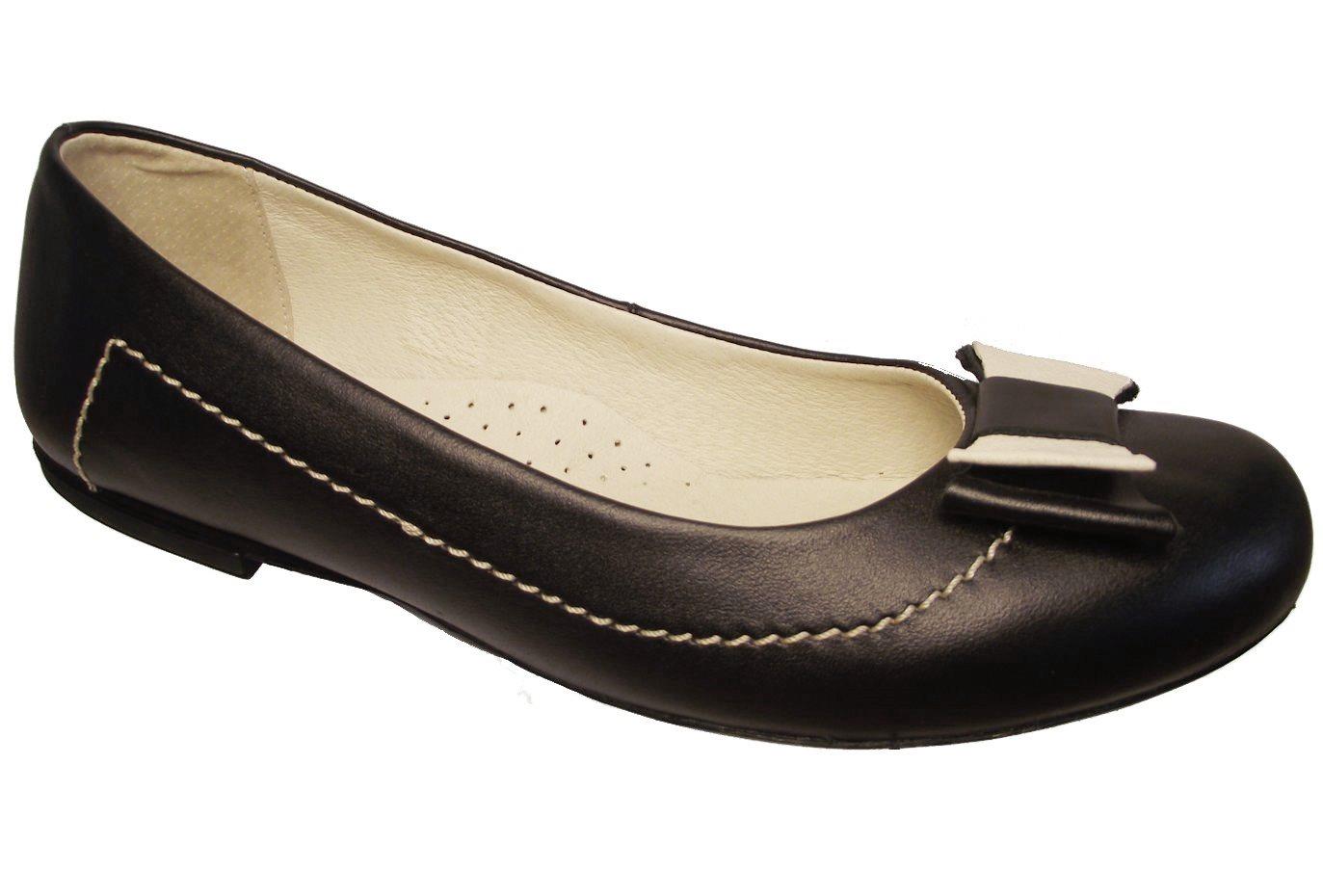 Dámské kožené baleríny Kira 507 černé Velikost: 37 (EU)