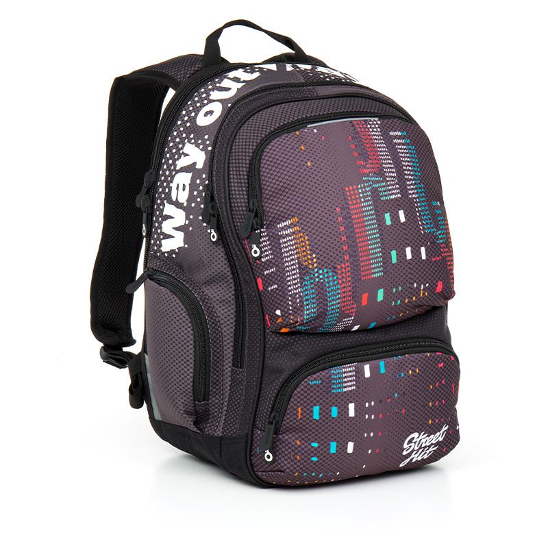 Topgal studentský batoh HIT 865 C Grey