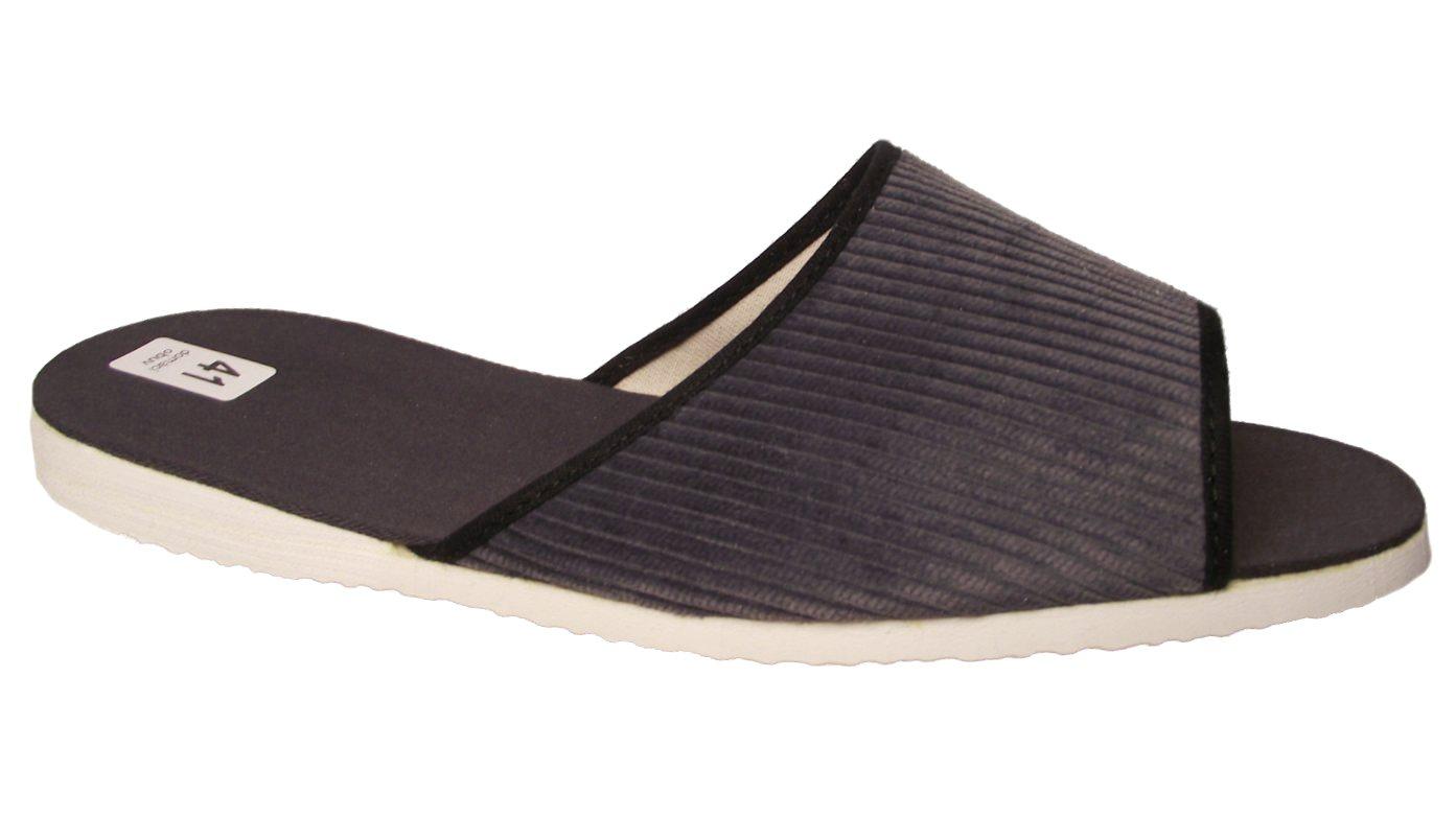 Pánské domácí pantofle Bokap 017 šedá manžestr Velikost: 40 (EU)