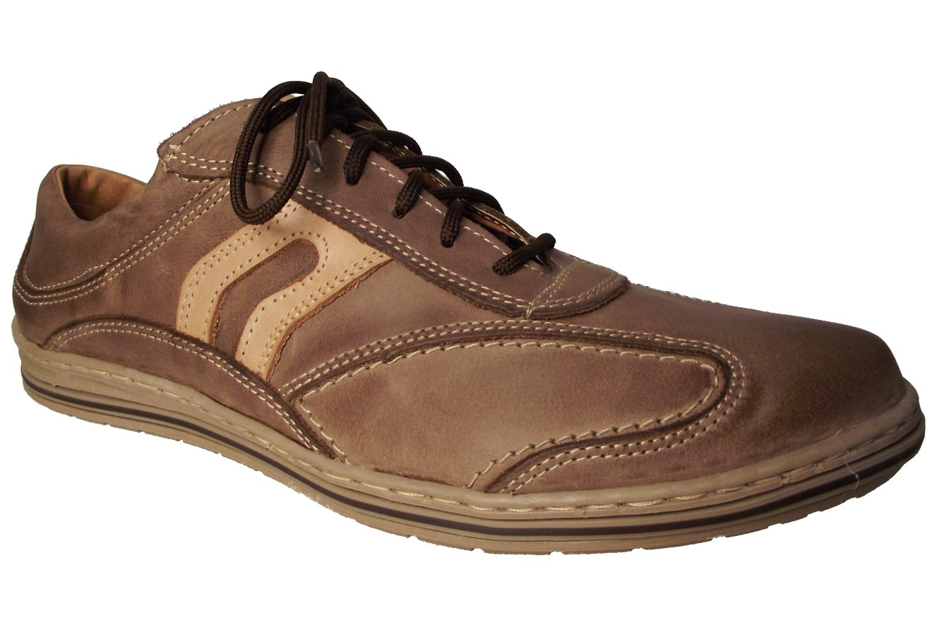 Pánská vycházková obuv NES 4065 hnědá Velikost: 42 (EU)