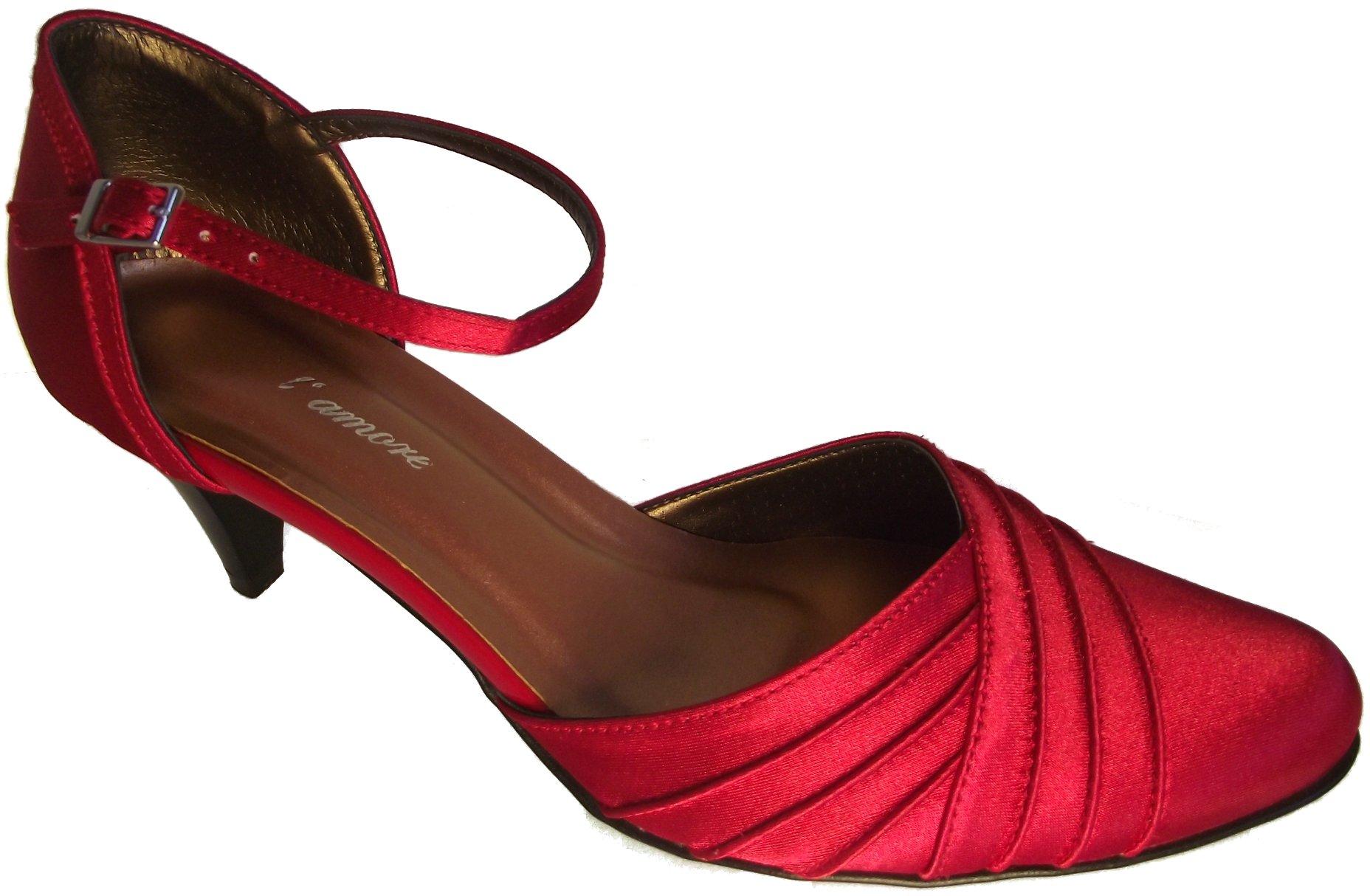Dámská společenská obuv NES 2525 červená Velikost: 38 (EU)
