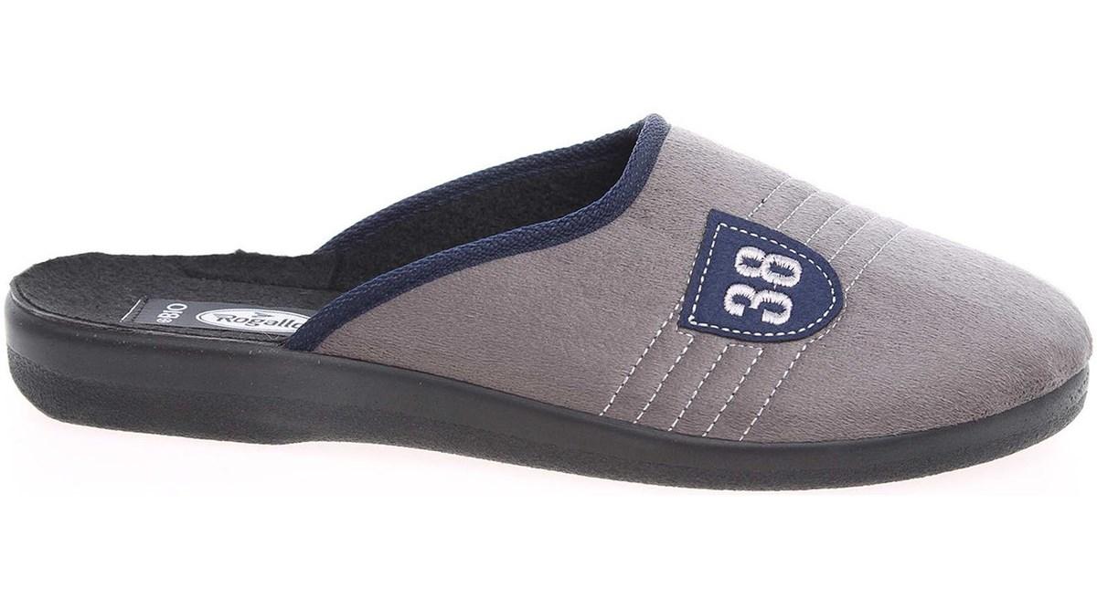 Pánské domácí pantofle Rogallo 4100 šedé Velikost: 42 (EU)