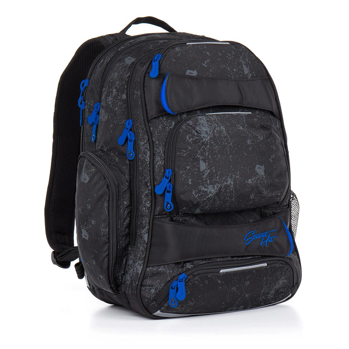 Topgal studentský batoh HIT 882 A Black