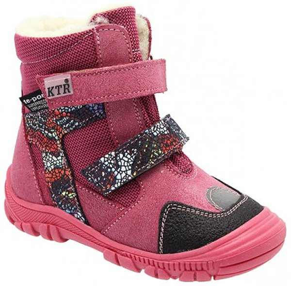 Dětské zimní kotníkové boty KTR 315/1/T růžová Velikost: 20 (EU)