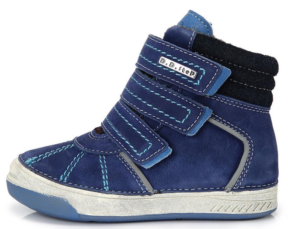 Dětské zimní kotníkové boty D.D.step 040 modré Velikost: 34 (EU)