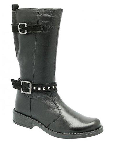 Dívčí zimní kožené kozačky KTR Mkids 6103 černá Velikost: 31 (EU)