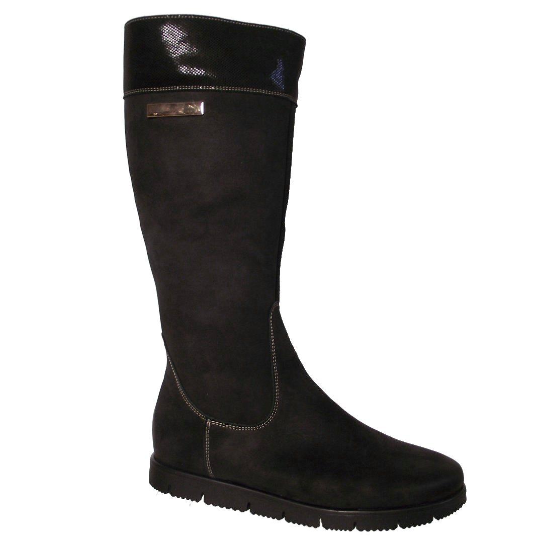 Dámské zimní kožené kozačky Kira 224 černé Velikost: 39 (EU)