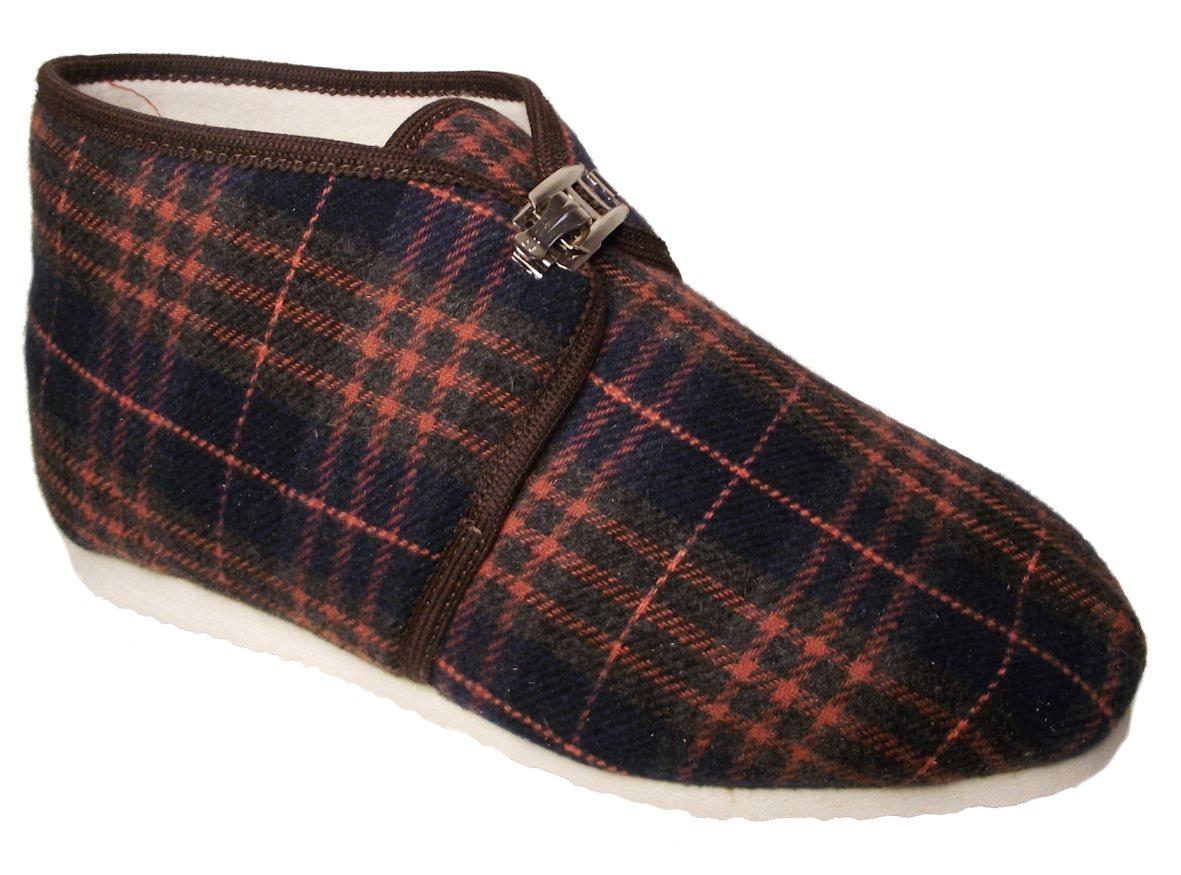 Dámské domácí papuče Bokap 063 modrý čtverec Velikost: 37 (EU)