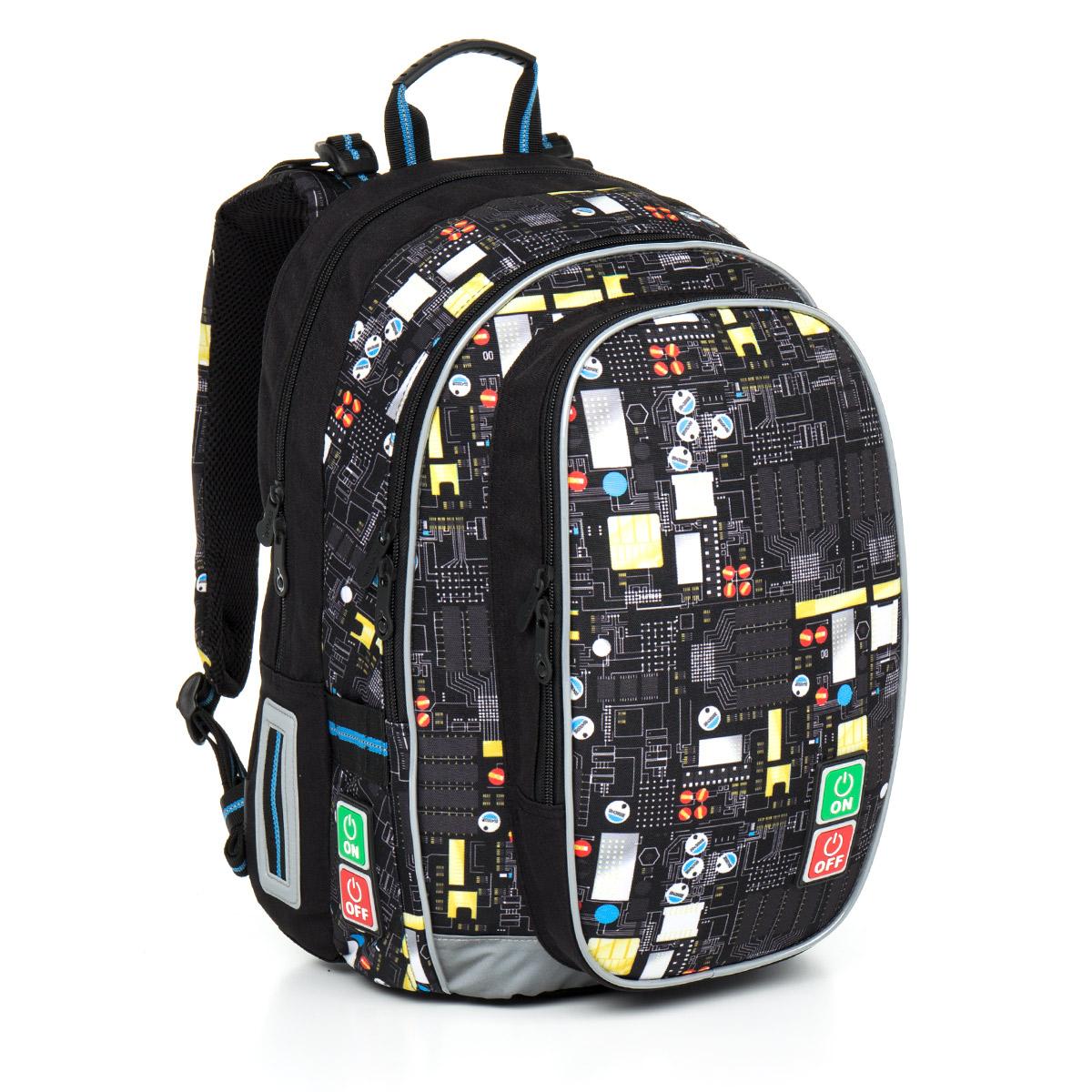Topgal školní batoh Chilli CHI 797 A Black