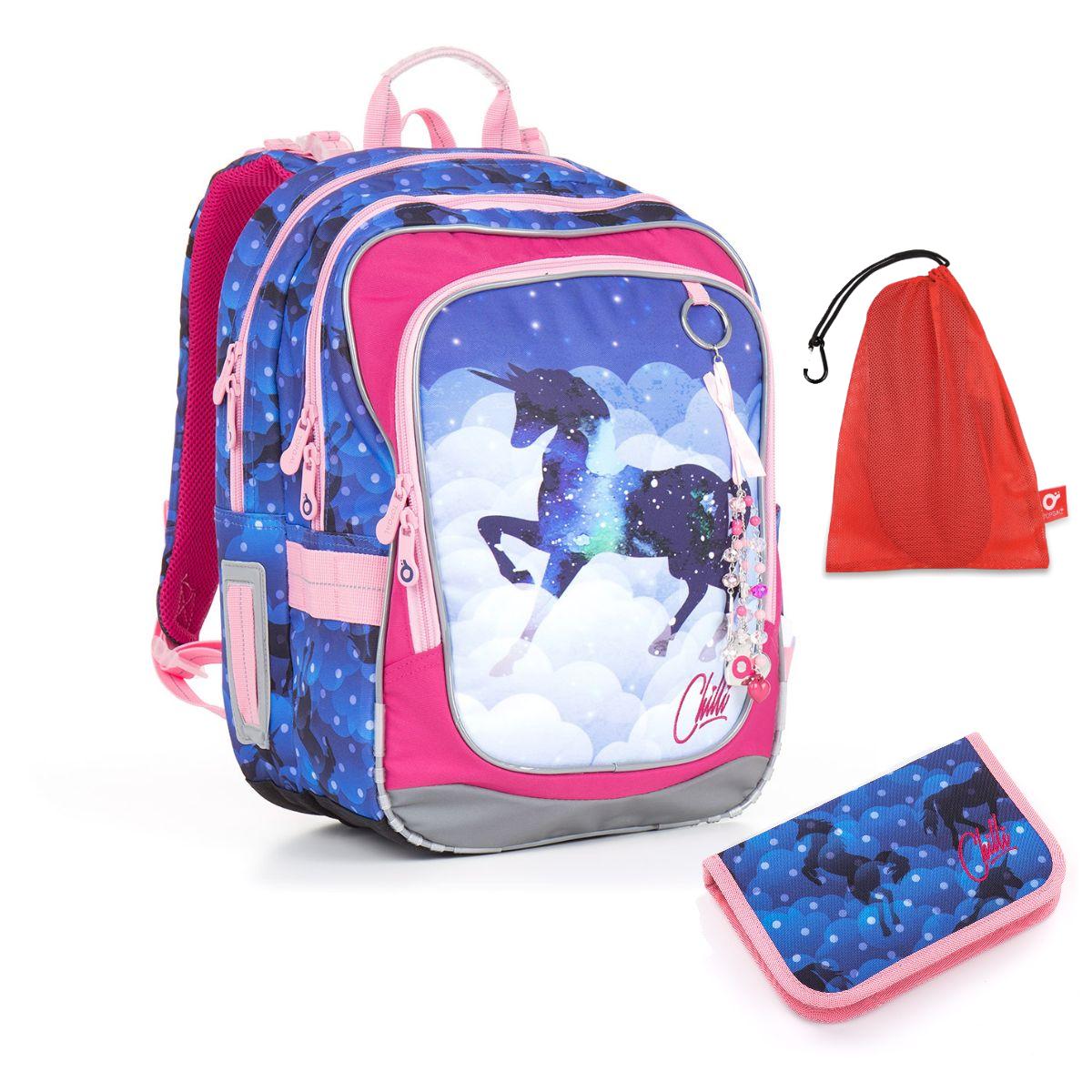 Topgal Sada pro školáka CHI 843 D SET MEDIUM batoh pouzdro sáček na cvičky