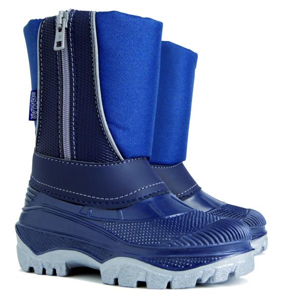 Demar dětské sněhule Cristal modré Velikost: 28 (EU)