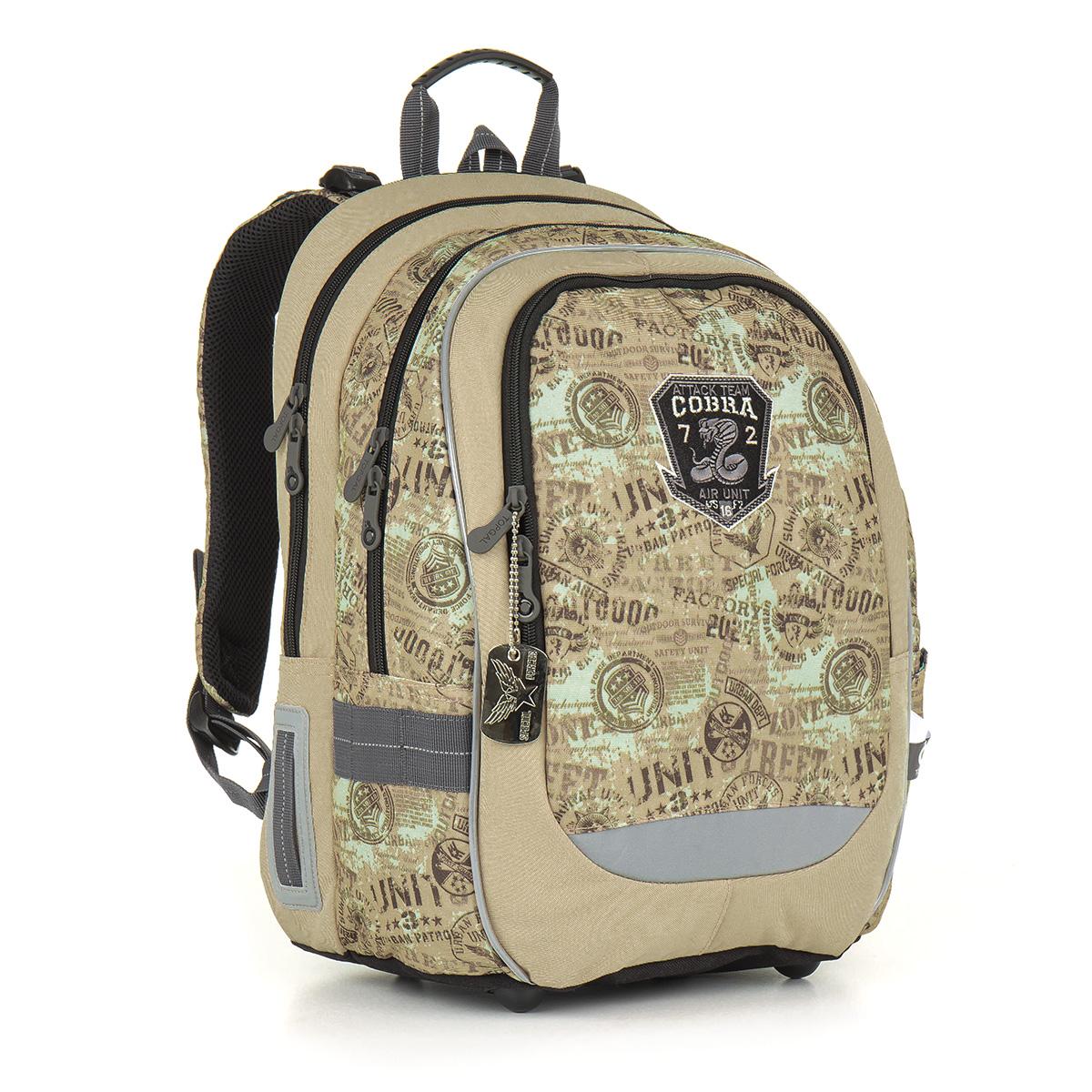 Topgal školní batoh CHI 872 K - Brown