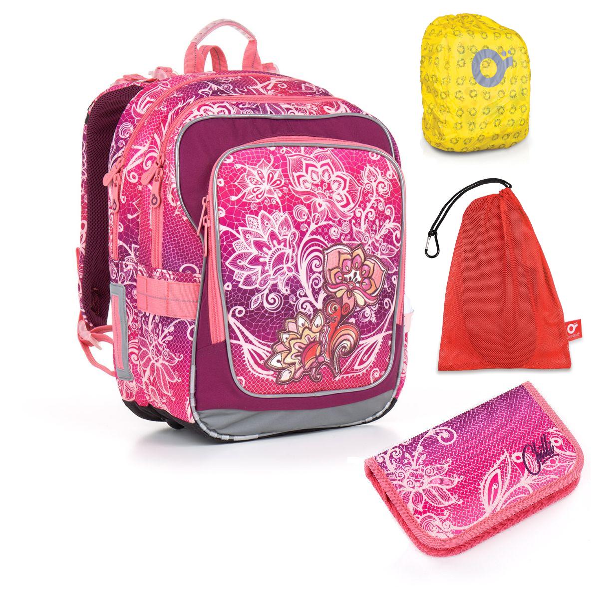 Topgal 4 dílný školní set CHI 863 H Pink Set Large