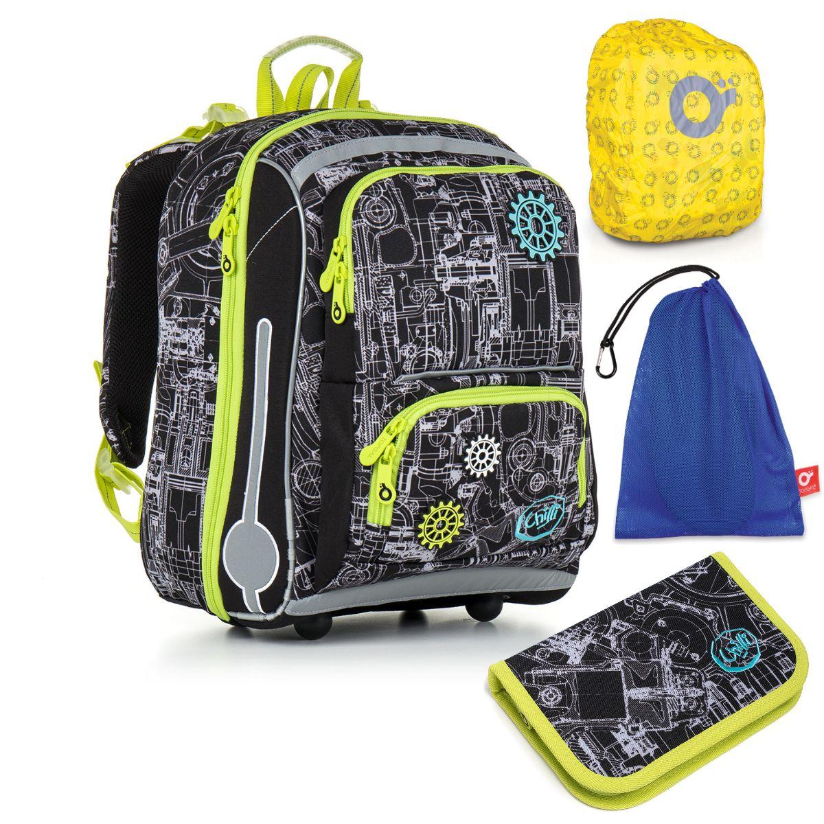 Topgal Topgal školní batoh pro prvňáčky sada pro školáka CHI 785 A SET LARGE