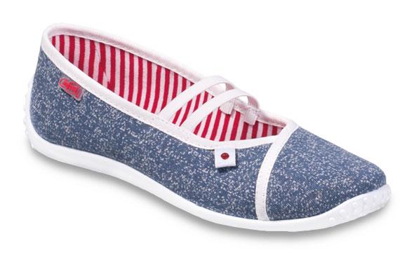Dámské textilní baleríny Befado 345Q159 modrá Velikost: 38 (EU)