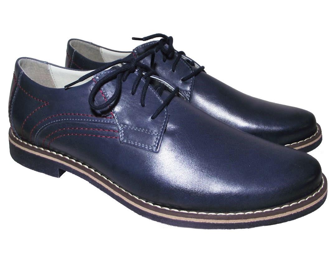 Pánská společenská obuv Barton 51017 modrá Velikost: 41 (EU)