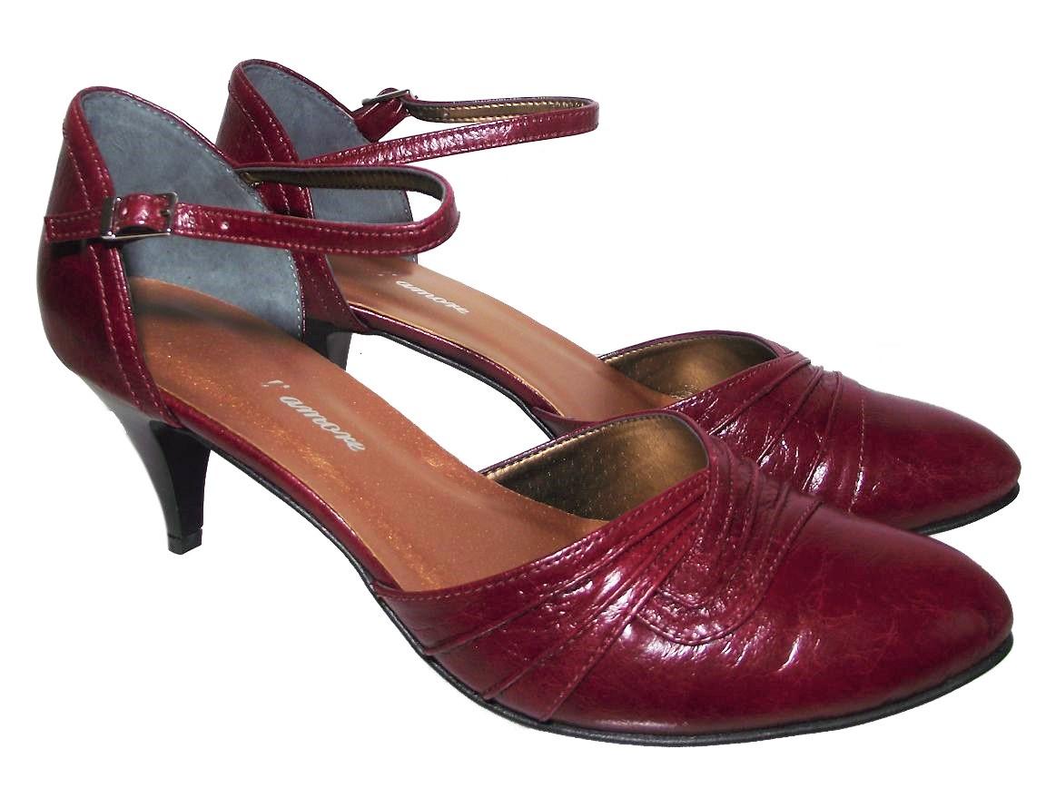 Dámská společenská obuv NES 2505 vínová Velikost: 36 (EU)