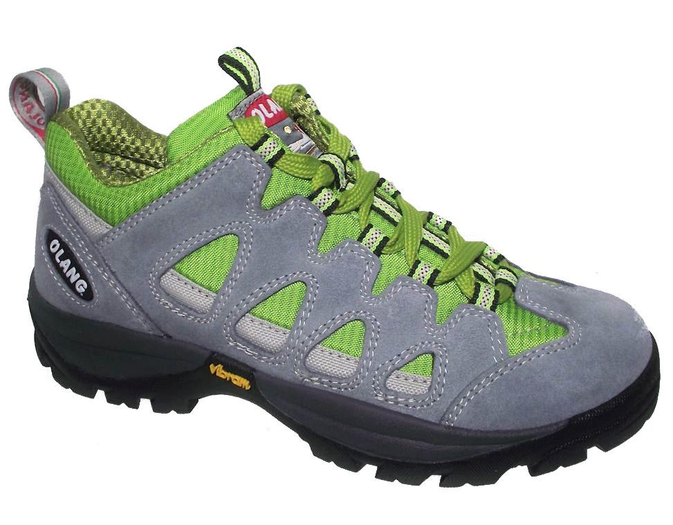 Dětská treková obuv Olang Corvara Kid šedo-zelená Velikost: 27 (EU)