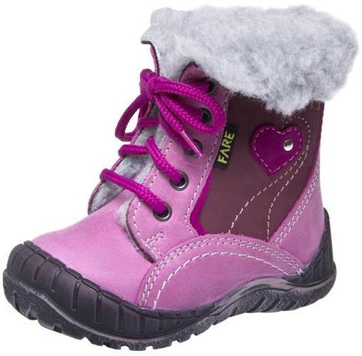 Dětské zimní kotníkové boty Fare 2145153 růžová Velikost: 20 (EU)