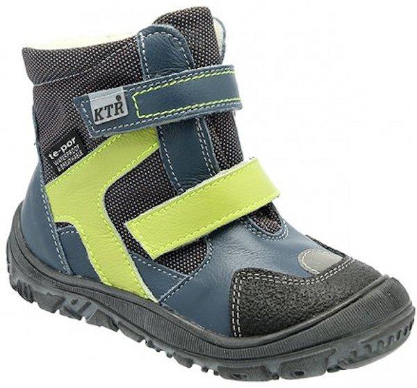 Dětské zimní kotníkové boty KTR 315 modrá Velikost: 20 (EU)