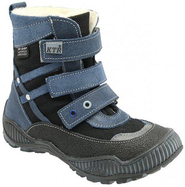 Dětské zimní kotníkové boty KTR 316 modrá Velikost: 26 (EU)