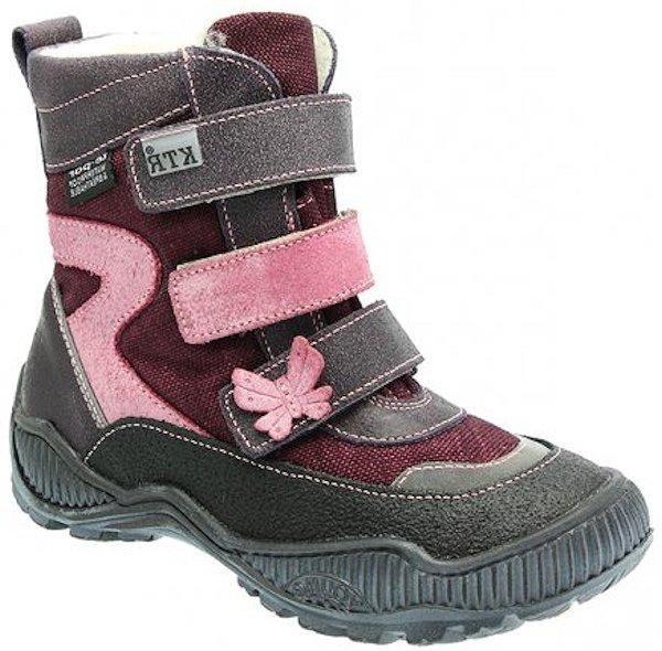 Dětské zimní kotníkové boty KTR 316 fialová Velikost: 26 (EU)