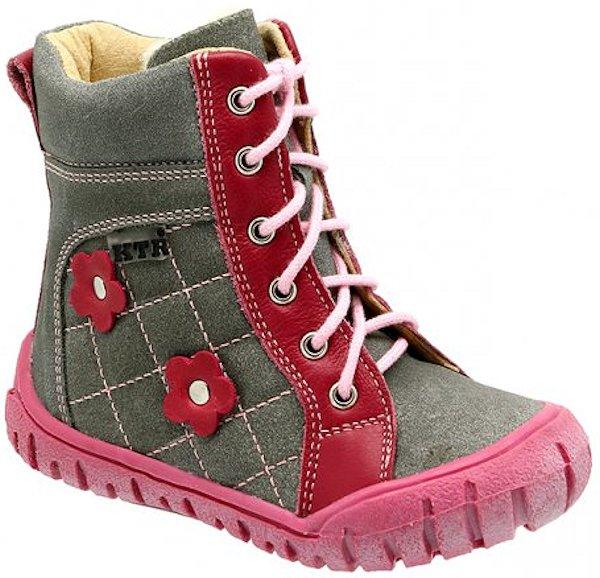 Dětské zimní kotníkové boty KTR 309 růžová Velikost: 21 (EU)