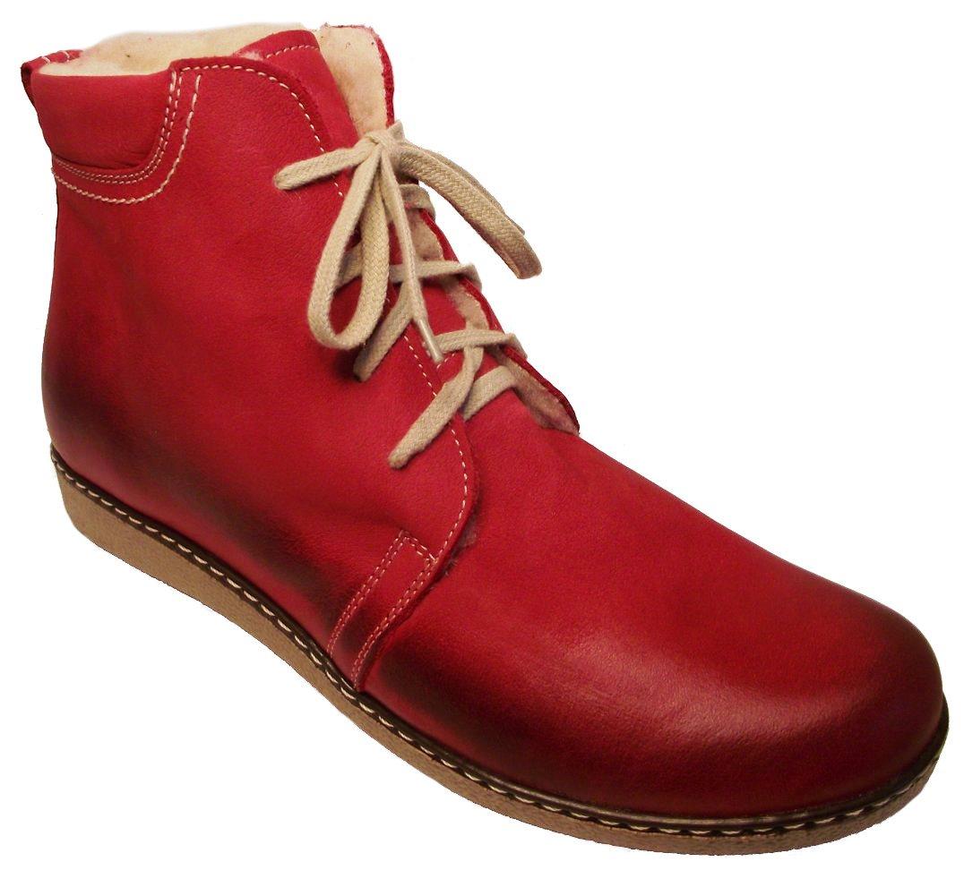 Dámské zimní kotníkové boty Hujo J 3822 červená Velikost: 38 (EU)