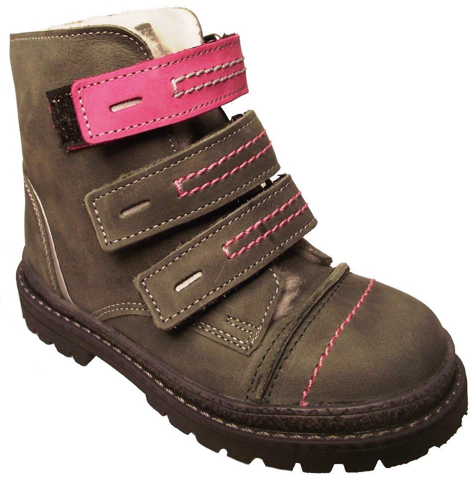Dětské zimní kotníkové boty Essi S 1580 šedá Velikost: 23 (EU)