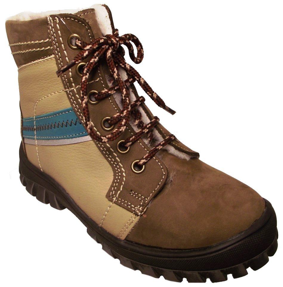 Dětské zimní kotníkové boty Essi S 1507 hnědá Velikost: 27 (EU)