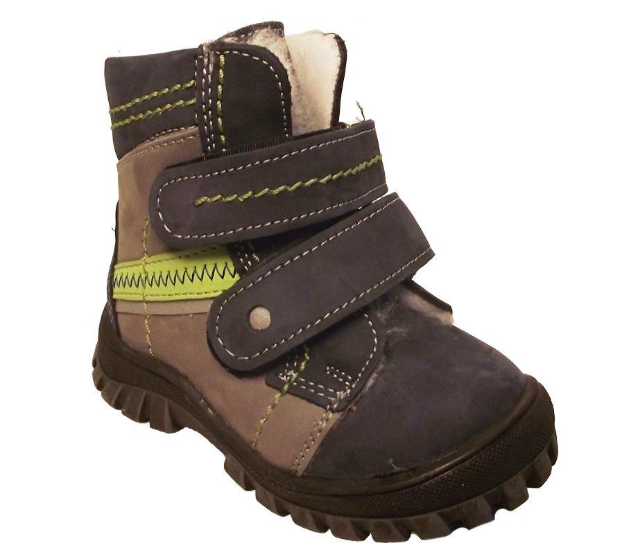 Dětské zimní kotníkové boty Essi S 1508 modrá Velikost: 19 (EU)