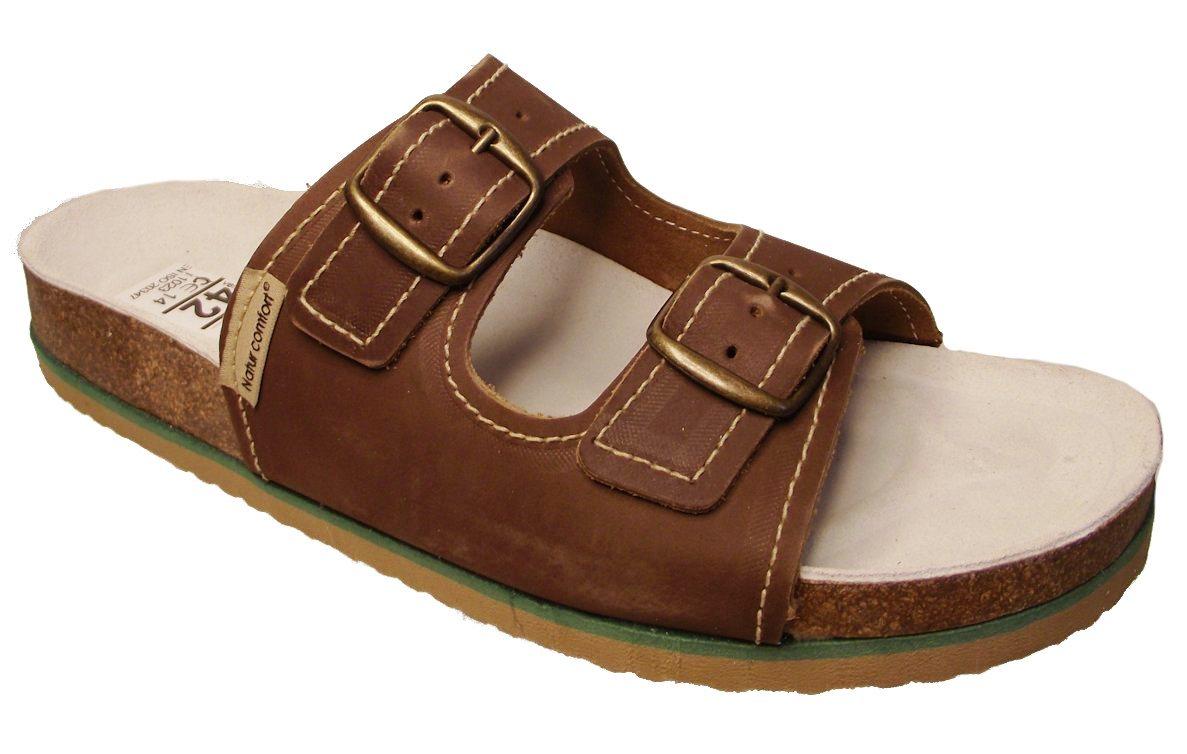 Natur comfort pantofle 1002 PEH2 hnědé Velikost: 45 (EU)