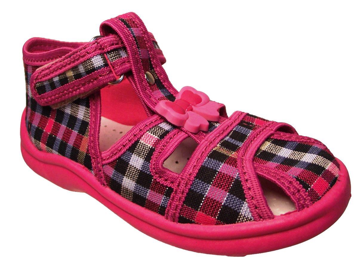 Dětské textilní sandálky Rogallo růžové Velikost: 20 (EU)