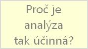 Proč je analýza tak účinná
