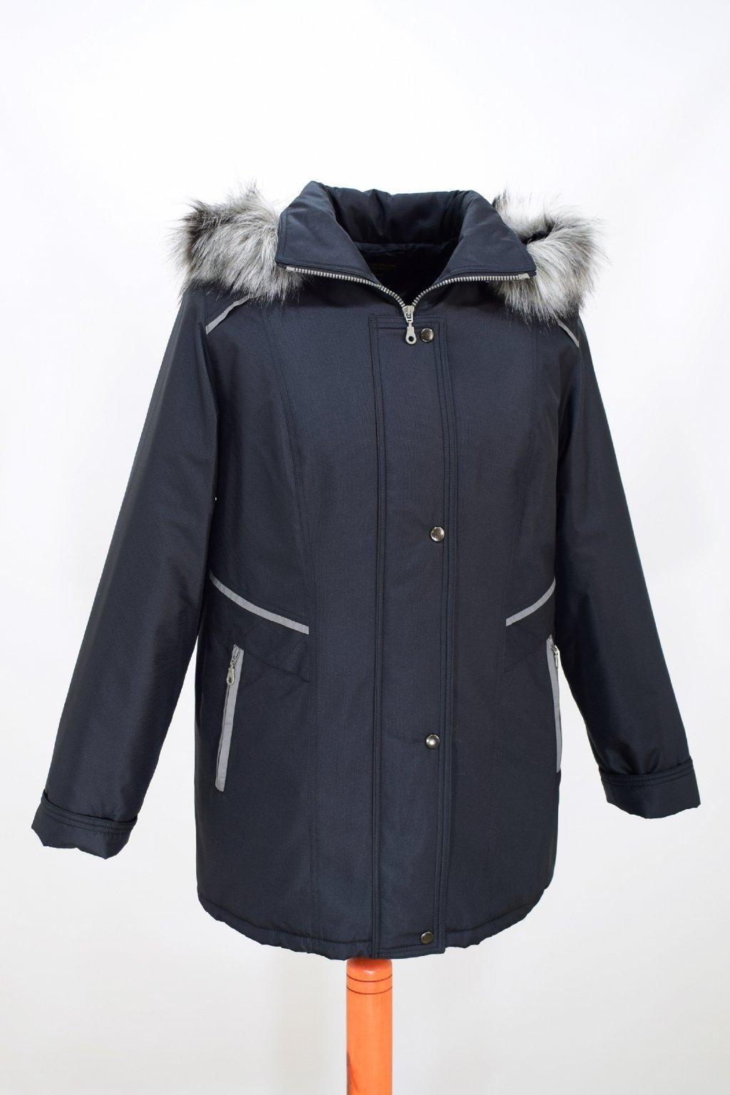 Dámská černá zimní bunda Jitka nadměrné velikosti