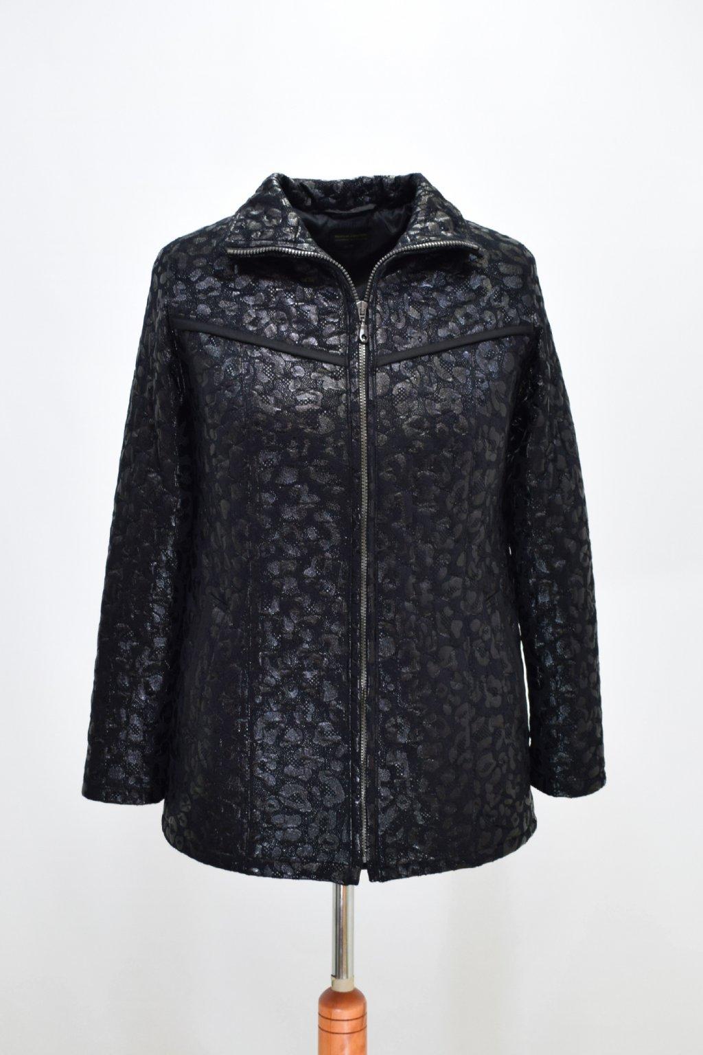 Dámská černá přechodová bunda Rita nadměrné velikosti.