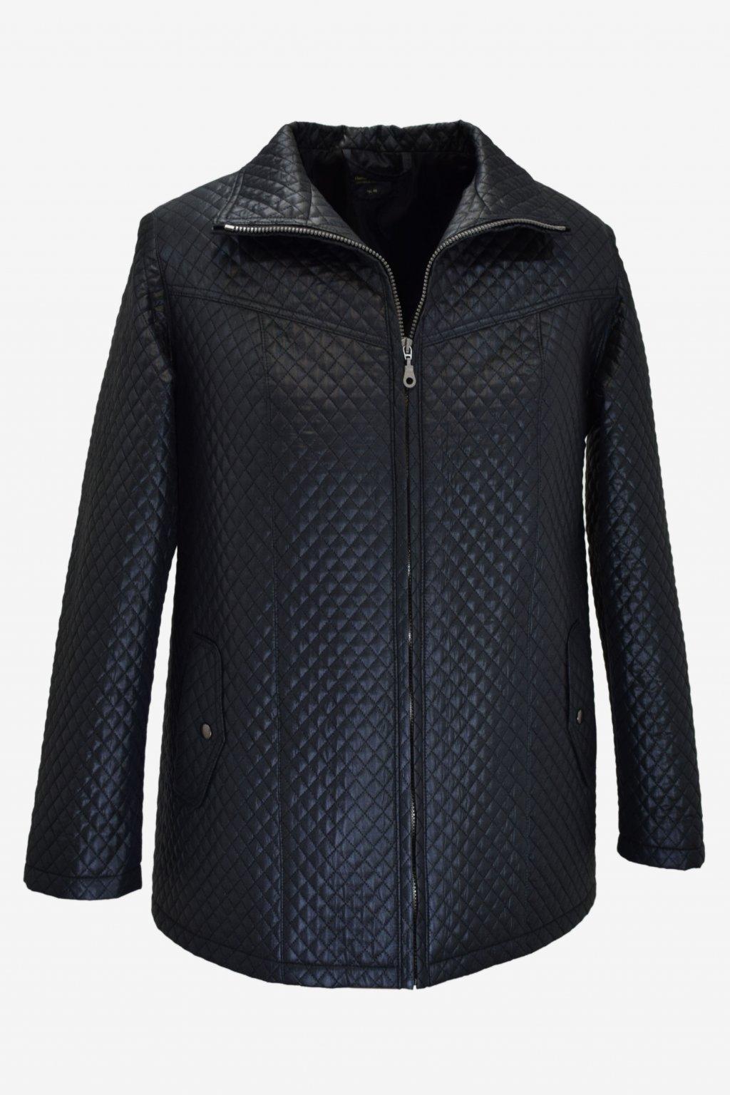 Dámská tmavě modrá přechodová bunda Ilona nadměrné velikosti.