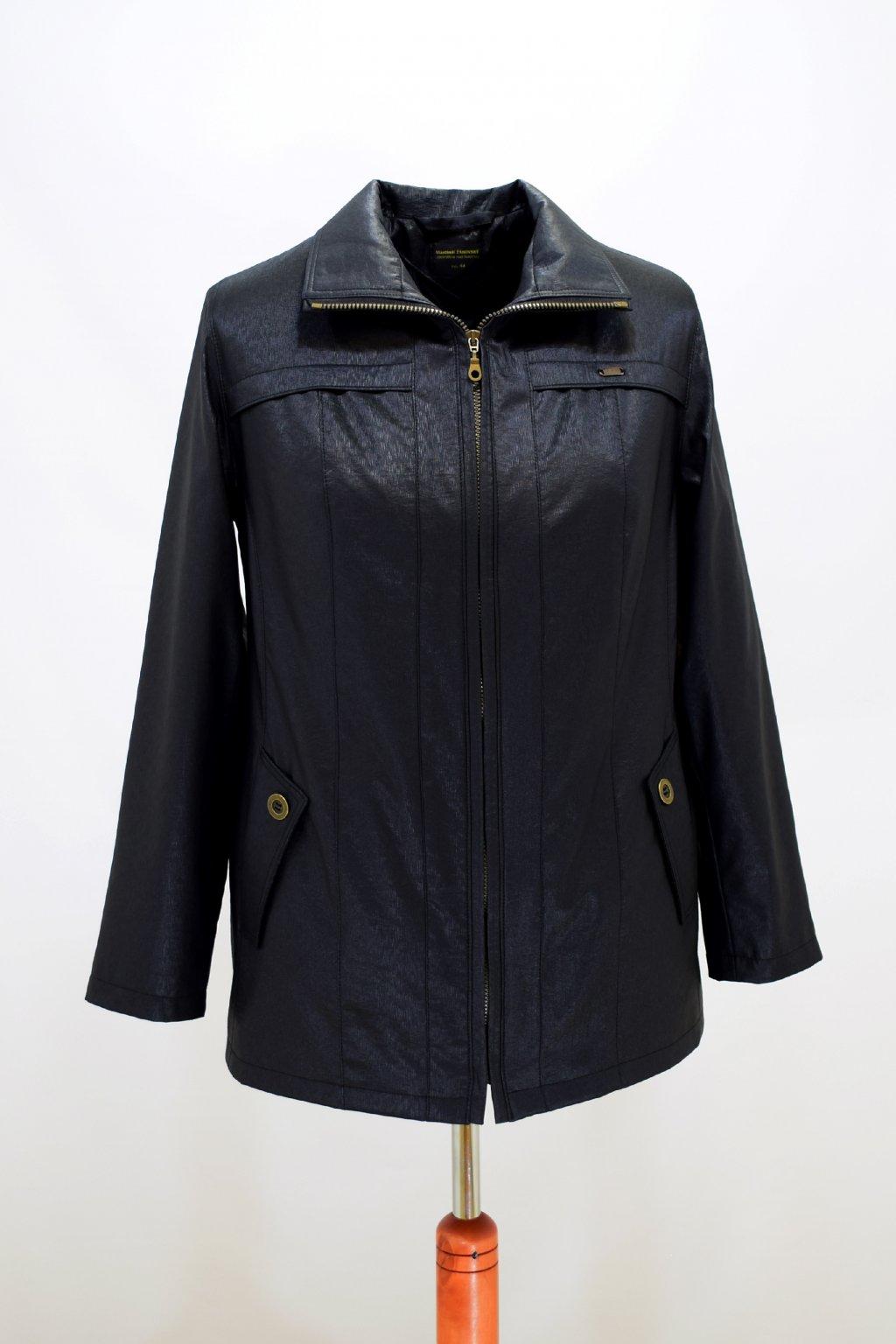 Dámská černá jarní bunda Raduza nadměrné velikosti.