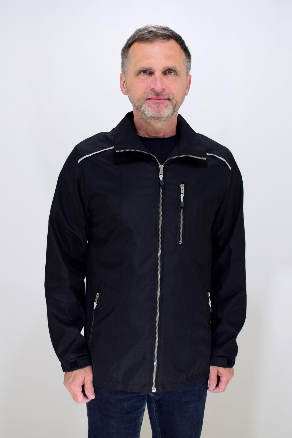 Pánská jarní černá bunda Lukáš nadměrné velikosti