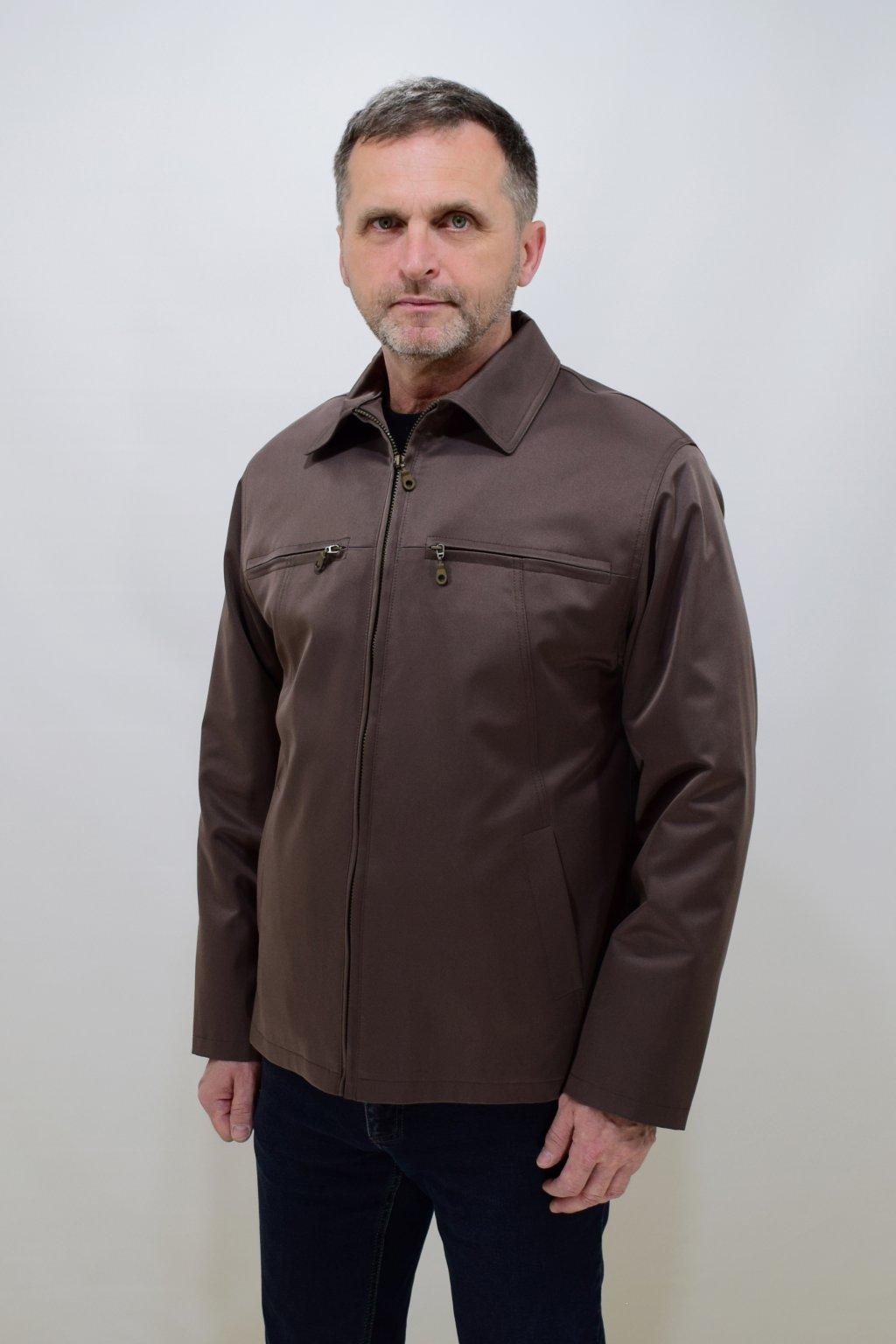 Pánská ořížková jarní bunda Jan nadměrné velikosti.