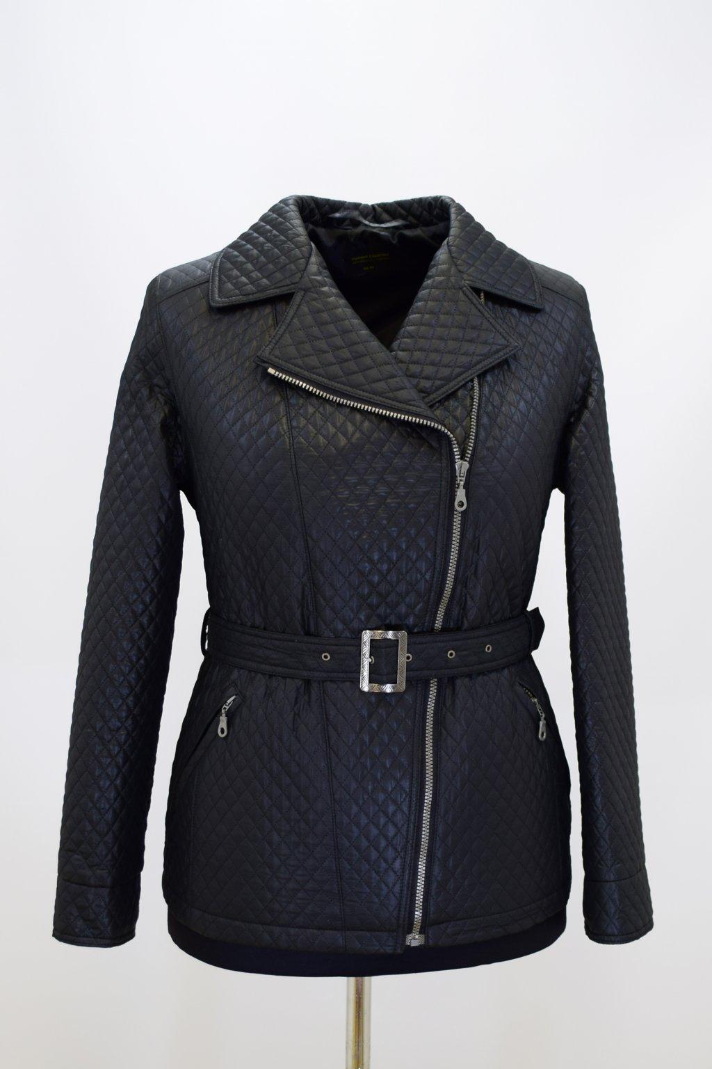 Dámský přechodový černý kabátek Zora nadměrné velikosti