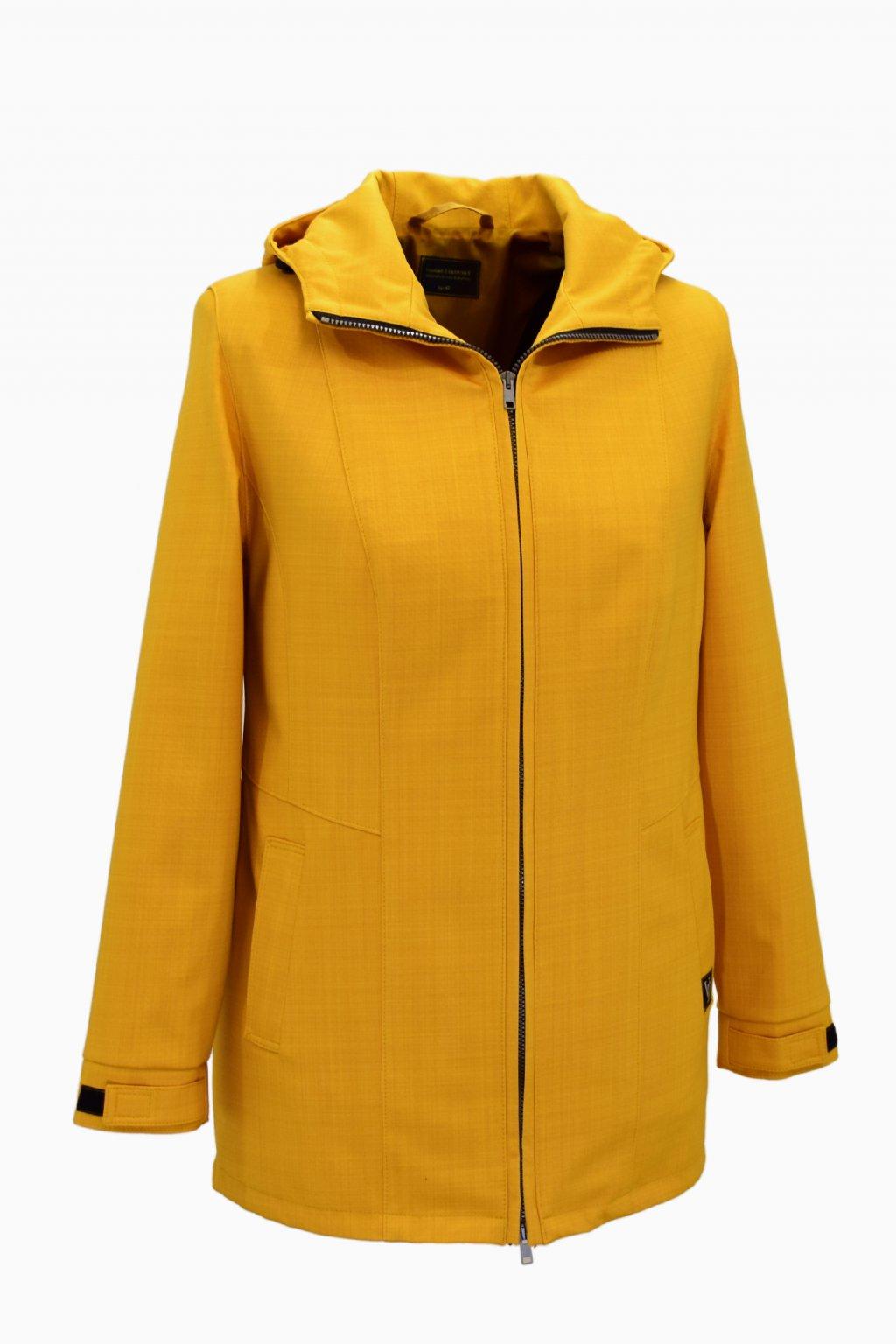 Dámská žlutá jarní outdoorová bunda Elza nadměrné velikosti