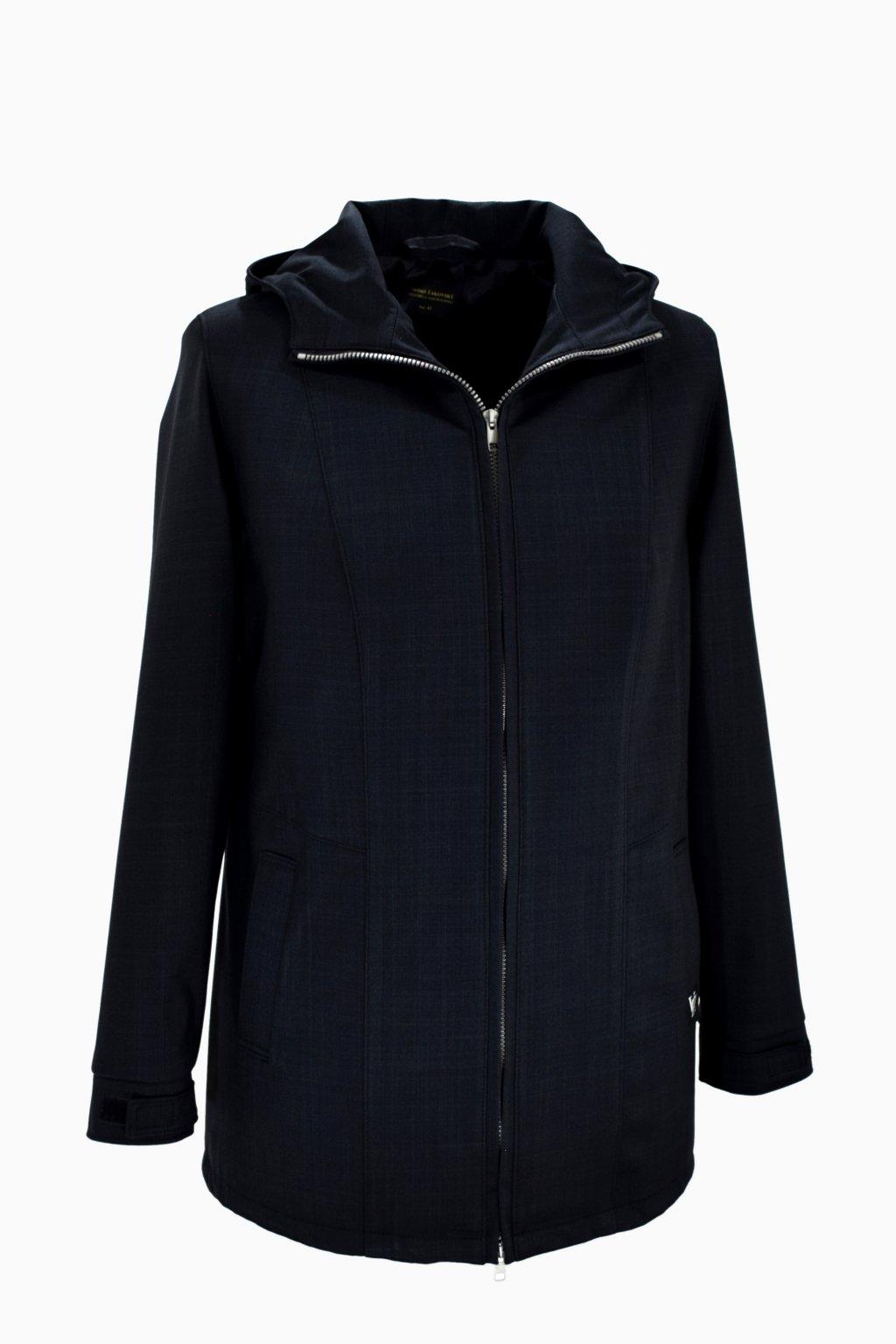 Dámská černá jarní outdoorová bunda Elza nadměrné velikosti