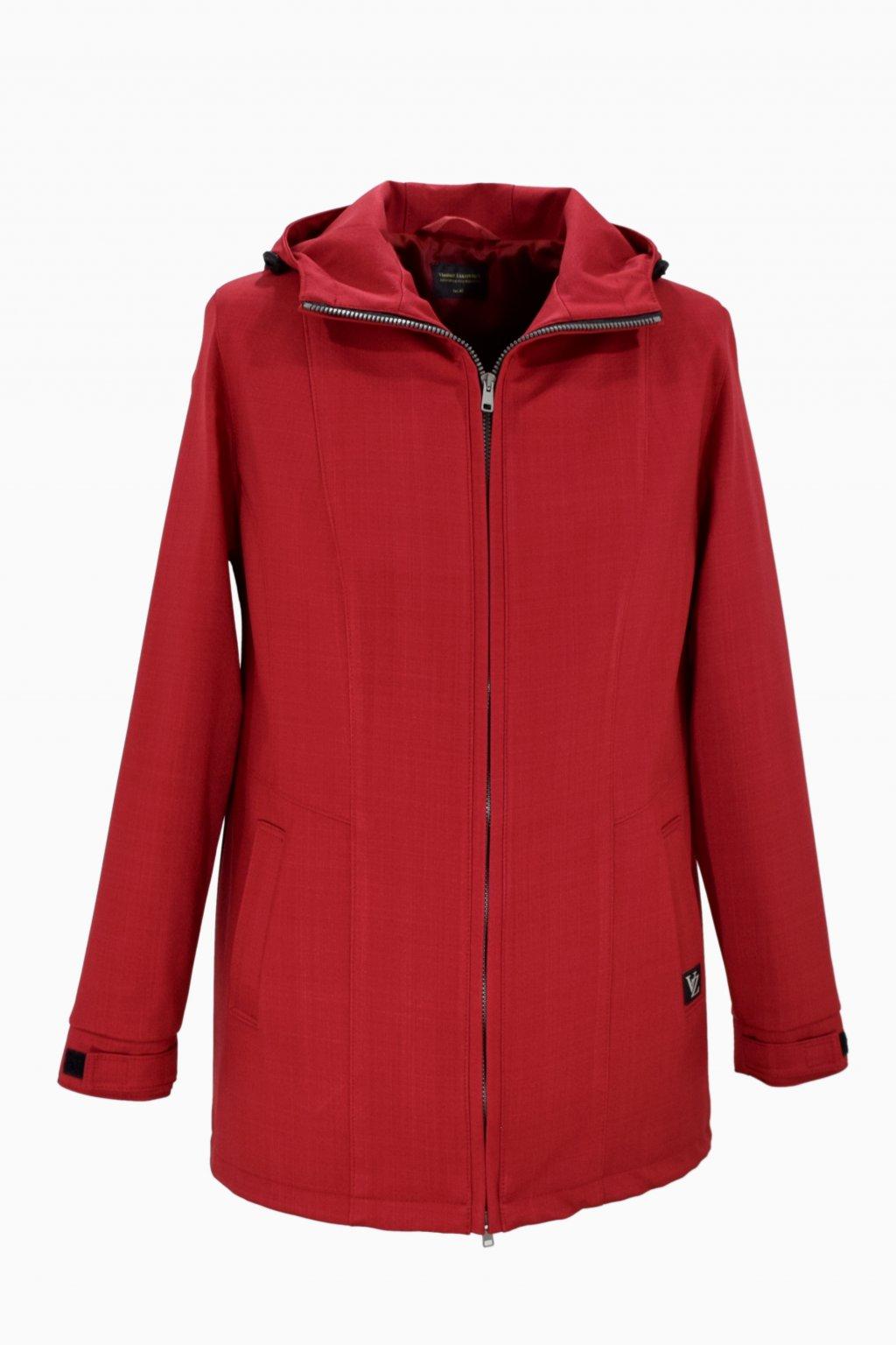Dámská červená jarní outdoorová bunda Elza nadměrné velikosti