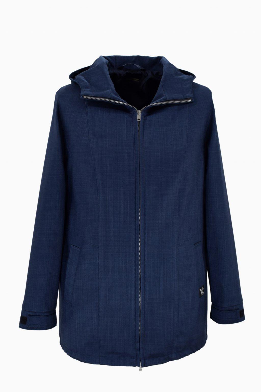 Dámská tmavě modrá jarní outdoorová bunda Elza nadměrné velikosti