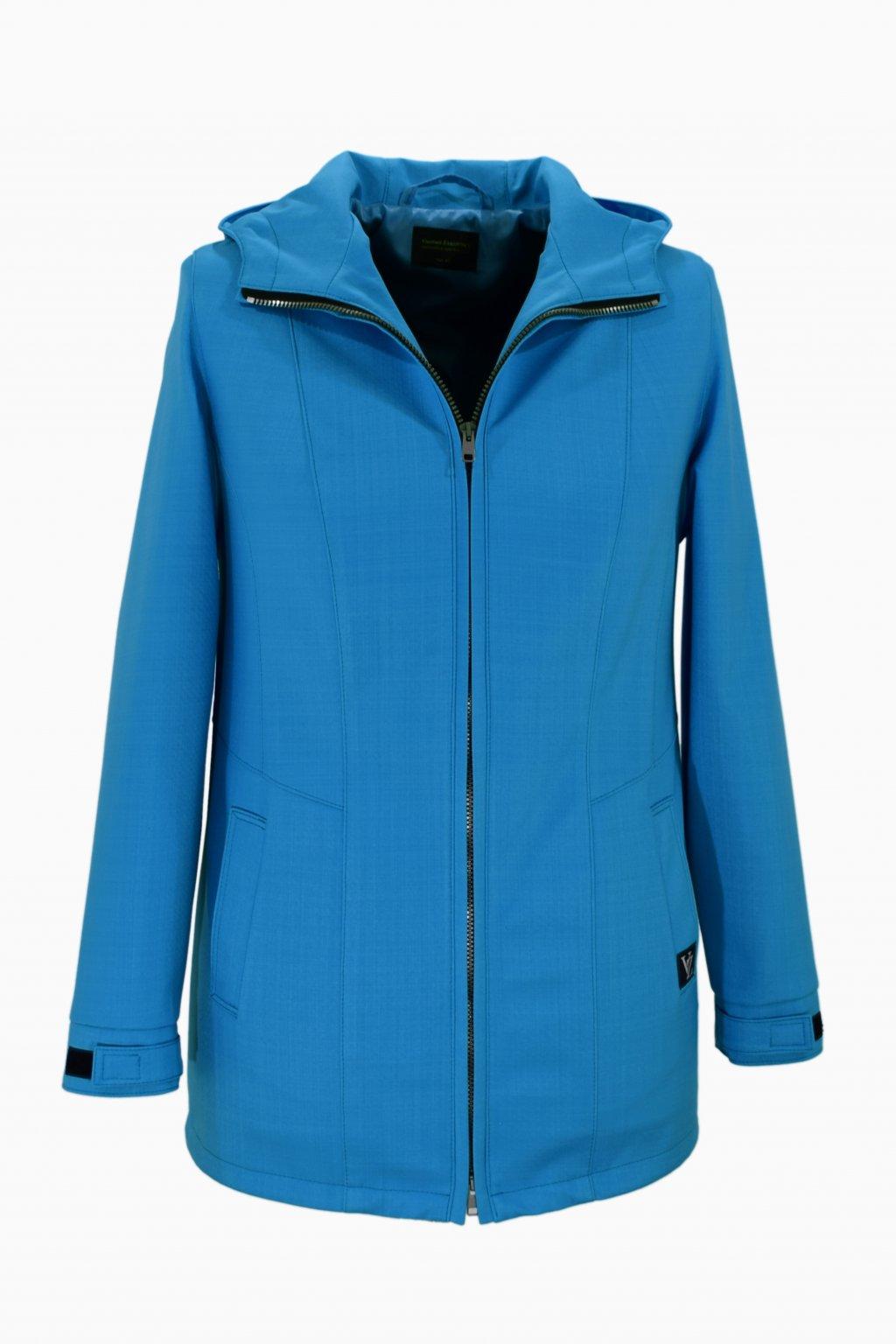 Dámská tyrkysová jarní outdoorová bunda Elza nadměrné velikosti