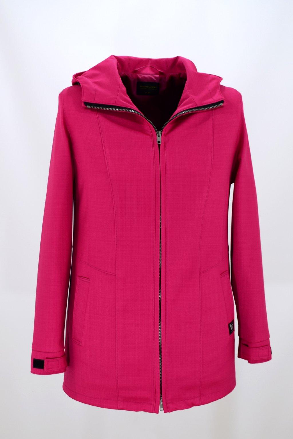 Dámská růžová jarní outdoorová bunda Elza nadměrné velikosti