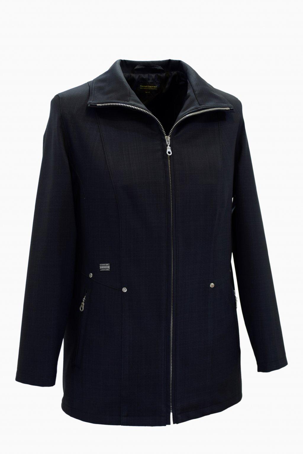 Dámská černá jarní bunda Milena nadměrné velikosti