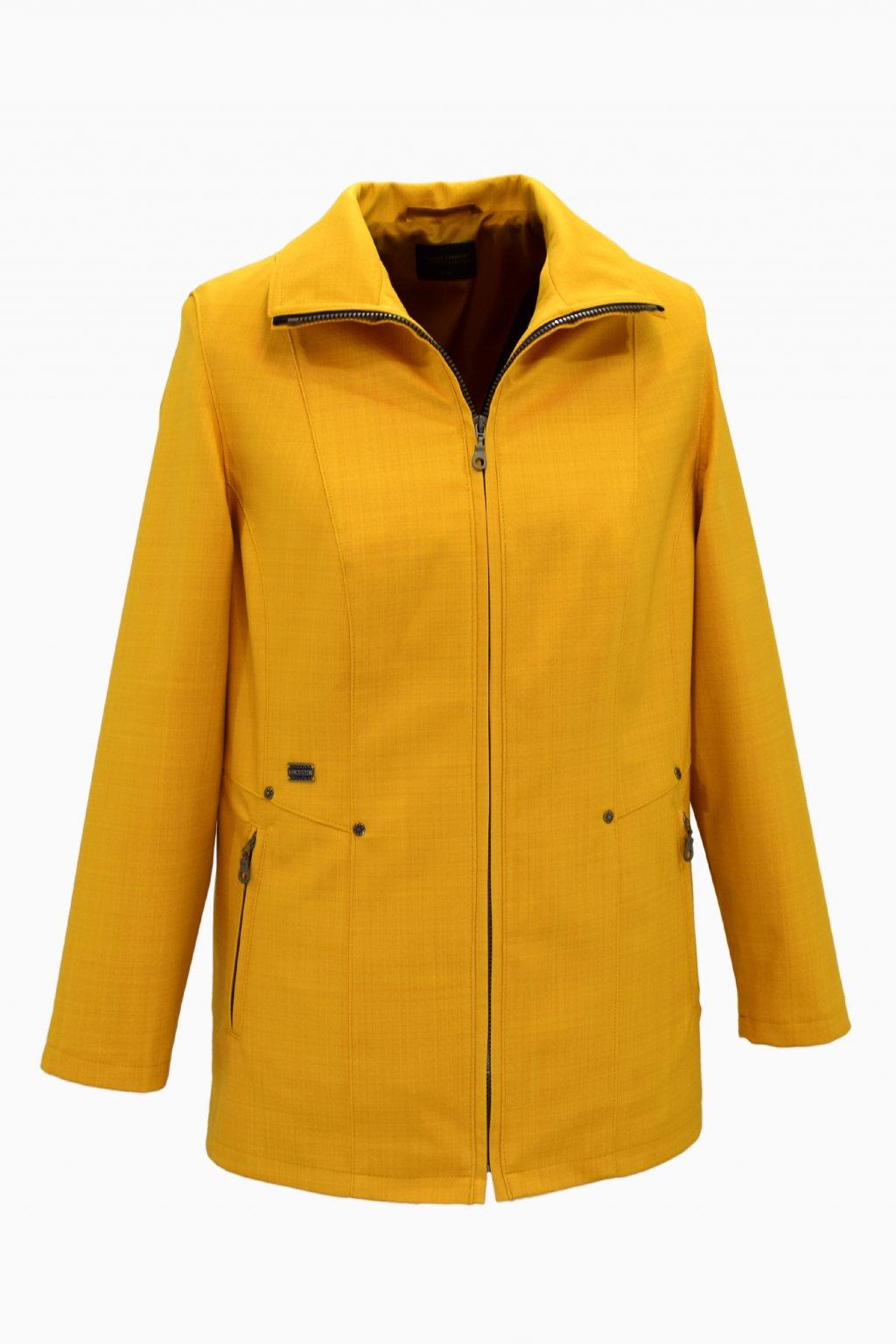 Dámská žlutá jarní bunda Milena nadměrné velikosti