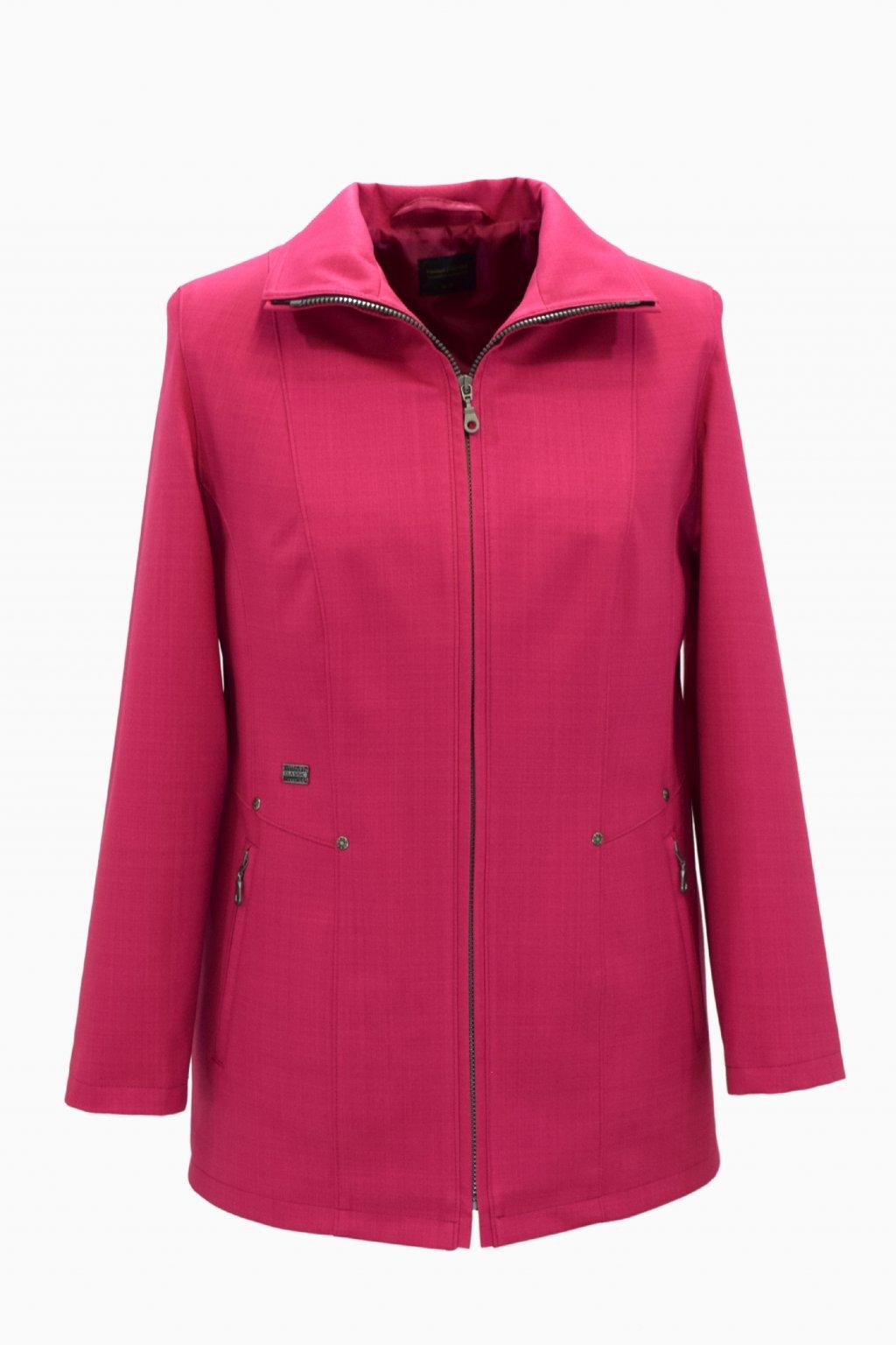 Dámská růžová jarní bunda Milena nadměrné velikosti